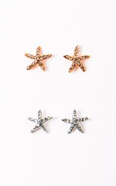 These starfish studs are adorable! Perfect for a Hawaiian vacation, hanging at the beach, or just reflecting on how much you love the ocean