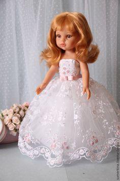Купить Платье для куклы - белый, платье для куклы, одежда для куклы, подарок для женщины, подарок невесте