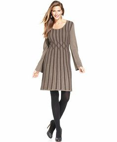 Style&co. Dress, Long-Sleeve Ribbed-Knit Sweaterdress