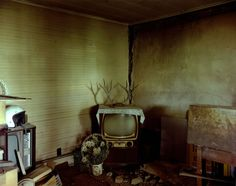 Steve Fitch - Living room in a house near Ludlow, eastern Colorado, July 6, 1999