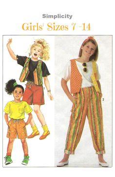 UNCUT Girls' Easy Separates Sewing Pattern by KeepsakesStudio Kids Dress Patterns, Childrens Sewing Patterns, Vogue Sewing Patterns, Easy Sewing Patterns, Vintage Sewing Patterns, Love Sewing, Dress Sewing, Sewing Tips, Sewing Ideas