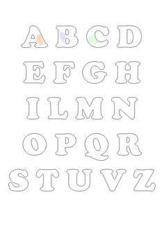 Lettere Alfabeto Grandi Da Stampare Cerca Con Google Passione