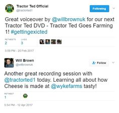 Actor Will Brown takes over the voice of Tractor Ted James D'arcy, Teaching Kids, Tractors, Real Life, Ted, Success, Education, Learning, Brown