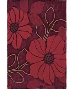 Poppy Acrylic Rug 180x120cm Red
