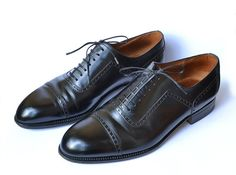 Authentic Luxury J.M. Weston OXFORDS black leather shoes.