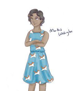 Guess who had to design a Martha Washington for Hamiltots.  Daily sketch…