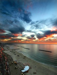Tel Aviv is such a beautiful city, and having the ocean right there is priceless. Look at that sunset!