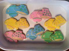 Tea party shower cookie favors
