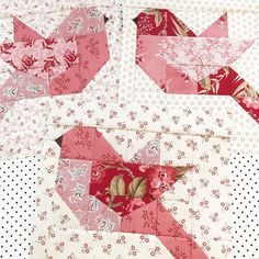 I am busy designing new patterns, but every day I try to make a birdie for my fall feather quilt. Paper Piecing Patterns, Quilt Block Patterns, Small Quilts, Mini Quilts, Quilting Projects, Quilting Designs, Colchas Country, Bird Quilt Blocks, Animal Quilts