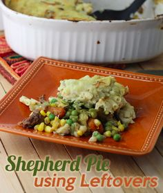 Ever had leftovers from a crockpot roast?  This recipe will TRANSFORM that into another yummy meal!!  Try this Shepards Pie recipe!!