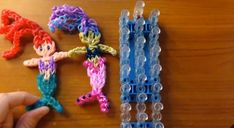 Rainbow Loom band charm Ariel   Mermaid Doll Charm - Original Design Gomitas Sirena - YouTube If your child has mastered the art of loom band bracelet making, and wants to try something a little more complex, here are some fabulous tutorials on how to make some character loom band charms. #loombands