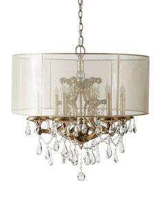 John richard collection quatrefoil 9 light shaded chandelier aloadofball Choice Image