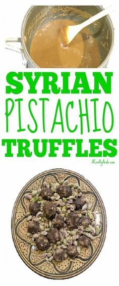 My daughter created this pistachio chocolate truffle tutorial to share today as I've been out of town. She used pistacia seeds, a tree unique to Syria. B Food, Food Porn, Pliny The Elder, Clean Plates, Cooking Dishes, Truffle Recipe, Middle Eastern Recipes, Protein Sources, Chocolate Truffles