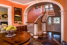 Check out the nicest homes currently on the market in New York. View pictures, check Zestimates, and get scheduled for a tour of some luxury listings. Square Floor Plans, Family Room, Home And Family, Marble Bath, Wooden Staircases, Entry Foyer, Living Room With Fireplace, Beautiful Interiors, Renting A House