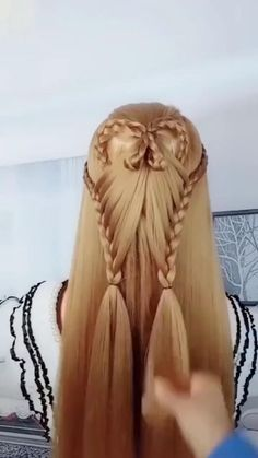 Easy Hairstyles For Long Hair, Braids For Long Hair, Beautiful Hairstyles, Girl Hairstyles, Braided Hairstyles, Wedding Hairstyles, Elvish Hairstyles, Renaissance Hairstyles, Hair Up Styles
