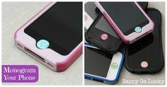 Happy-Go-Lucky: Monogram Your iPhone