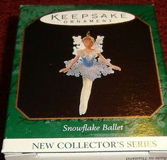 "1997 HALLMARK KEEPSAKE ""SNOWFLAKE BALLET"" MINIATURE DANCER ORNAMENT NIB"