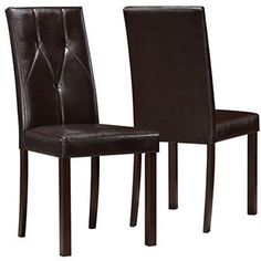 Monarch Two-Piece Tufted-Back Dining Chairs