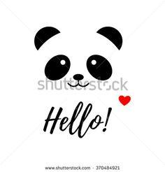 stock-vector-isolated-vector-panda-logo-animal-illustration-hello-icon-smiling-bear-image-white-background-370484921.jpg (450×470)