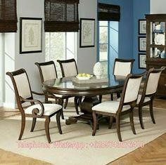Custom Furniture Jepara: Set Meja Makan Minimalis 6 Kursi Jati