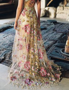 For The Desert Dreamers, Claire Pettibone's 'Vagabond' Collection is Calling to You Lace Boho Desert Wedding Dress Claire Pettibone Vagabond Collection Colored Wedding Dresses, Boho Wedding Dress, Dream Wedding Dresses, Wedding Gowns, Wedding Shoes, Lace Wedding, Green Wedding, Mermaid Wedding, Summer Wedding