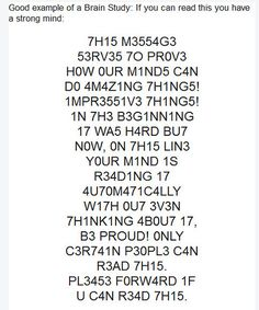 Brain teaser - Can you read this?