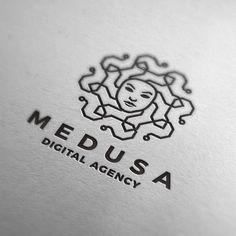 Medusa Digital Agency logo You are in the right place about Logo Design tutorial Here we offer you t Creative Logo, Web Design, Best Logo Design, Logo Publicidad, Ink Logo, Grafik Design, Cool Logo, Identity Design, Brand Identity