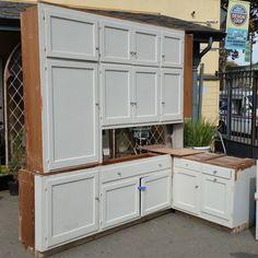Complete vintage kitchen cabinet set | Ohmega Salvage