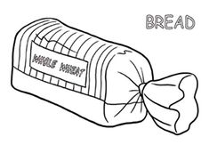 Coloring Page bread - free printable coloring pages | 181x235