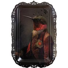 ibride Galerie De Portraits - Rectangular Tray - Ambroise ($146) ❤ liked on Polyvore featuring home, home decor, small item storage, multi, bird home decor, rectangular tray, rectangle box, bird box and ibride trays