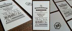 Letterpressed business cards via DESGR.COM