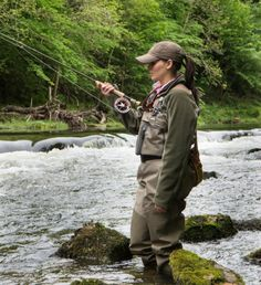 A Fly Fishing Woman this will be me in about a month and a half