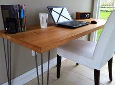 Reclaimed barnwood desk Modern rustic mid century by scottcassin, $495.00