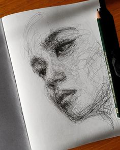 Self-Taught Artist Makes Amazing Female Portraits Based On Doodles Sketchbook Drawings, Cool Art Drawings, Pencil Art Drawings, Drawing Sketches, Sketching, Doodle Art Drawing, Amazing Drawings, Drawing Tips, Art Du Croquis