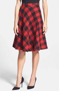 Pink Tartan Buffalo Plaid Circle Skirt available at #Nordstrom