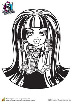 Printable Coloring Pages Adult Monster High Abbey Scan And Cut Portrait Monsters Printables 2 Colours Drawings