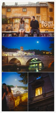 Rome engagement session.