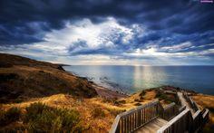 Schody, Plaża, Morze
