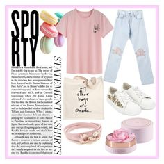 A fashion look from March 2017 featuring pattern tees, blue jeans and lacing sneakers. Browse and shop related looks. Monsoon, Salvatore Ferragamo, Bliss, Prada, Fashion Looks, Polyvore, T Shirt, Shopping, Tee Shirt