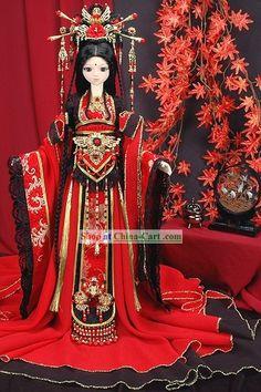 Ancient Chinese Princess Wedding Dress and Headpiece