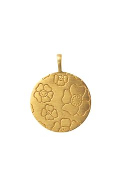 14K Gold Vermeil Pansy Charm | Gold Signature Pansy Charm | Stella & Dot | On sale for $24.50 | www.stelladot.com/carolynmlewis
