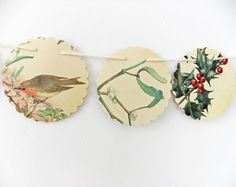 Winter bunting -  Christmas garland  upcycled by peonyandthistle #etsy #folksy #wowthankyou