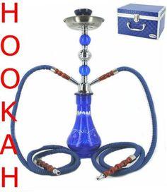 Hookah Pipe Storage Case Huka Hooka Nargila Shisha Smoke Pipe 2 Hose Glass Pipes