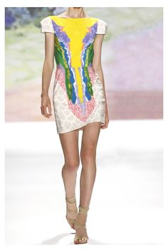:: tibiwatercolor silk dress::