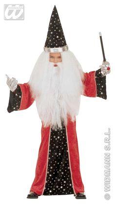 Kostým dětský Kouzelník červený 128 cm