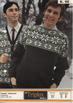 Nordic Design, Nordic Style, Sweater Cardigan, Men Sweater, Norwegian Knitting, Fair Isle Knitting, Vintage Knitting, Color Combinations, Knitting Patterns