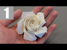 Part1/3 : Naomiki Sato Origami Rose (Pentagon Rose) Tutorial 佐藤直幹 摺紙玫瑰教學