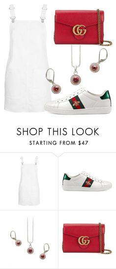"""""""Gucci"""" by avagoldworks ❤ liked on Polyvore featuring Topshop, Gucci and avagoldworks"""