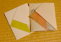 These envelope folds designed by the Origata Design Institute are based on traditional theories of colour harmony. | via Pingmag