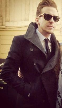 Dam that shirt, tie and coat combo! ~ Danny Jones of McFly